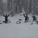 Snowmobile tours on the grand mesa