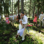 Wedding-party-in-the-woods